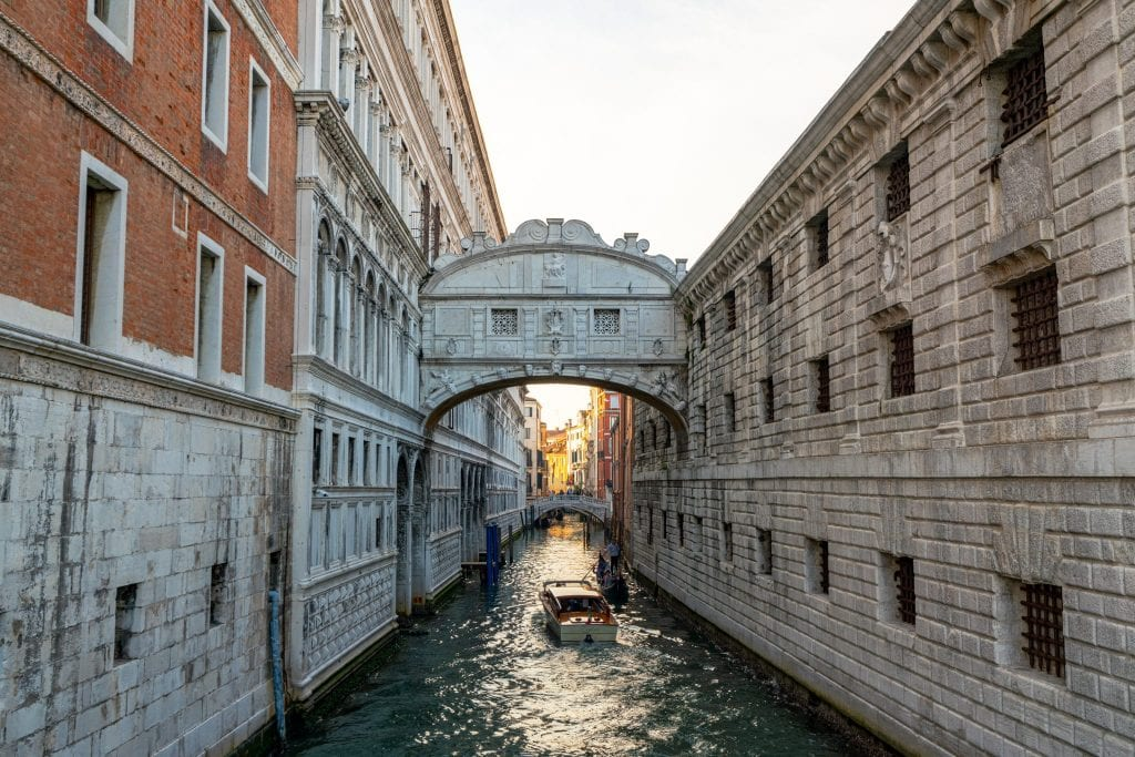 Photo of Bridge of Sighs as seen from the RIva degli Schiavoni in Venice