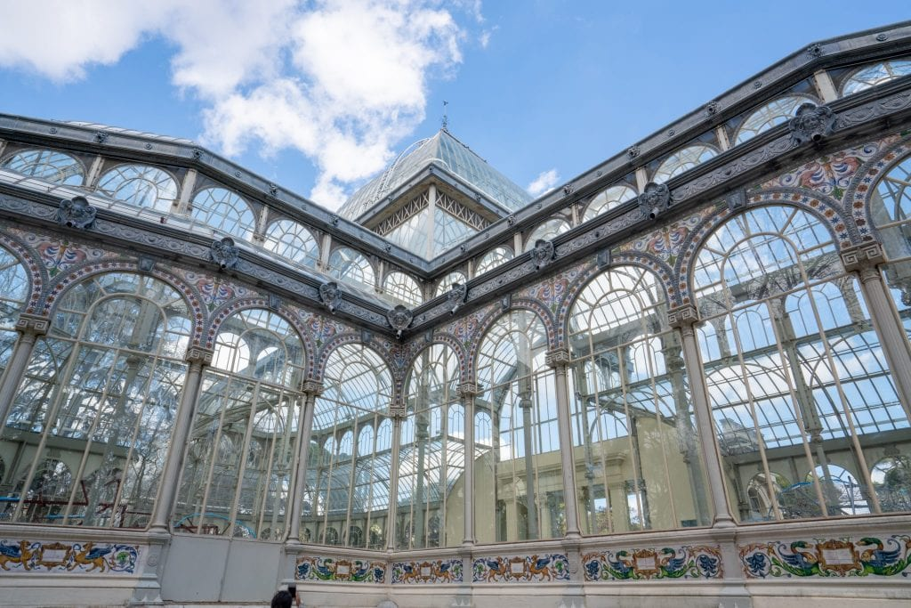 Close up of Palacio Cristal, a must-see during 3 days in Madrid Spain