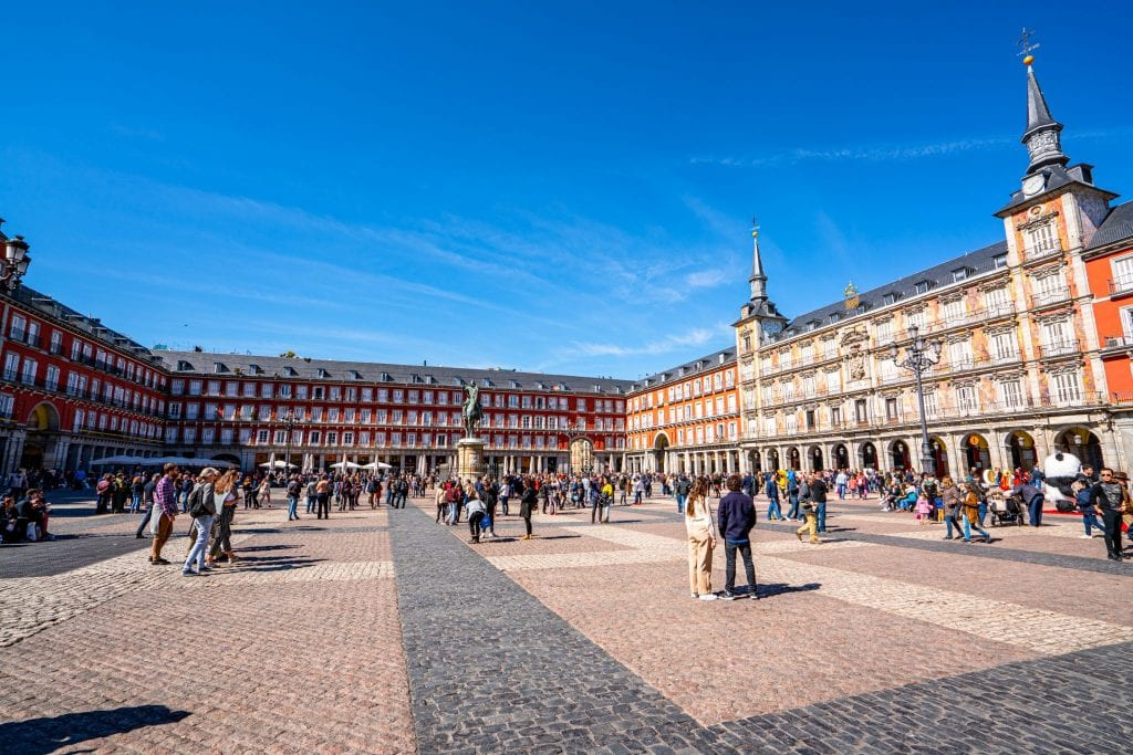 Plaza Mayor, an essential stop during 3 days in Madrid Spain