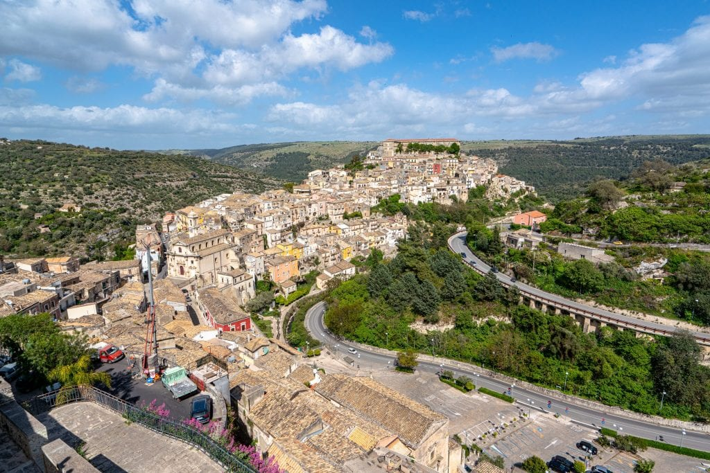 city of Ragusa Sicily as seen from above