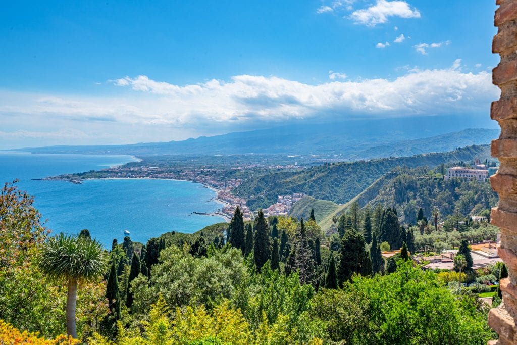 Photo of the view of the Ionian Sea from above