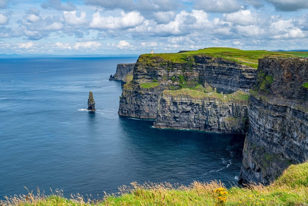 Cliffs of Moher with the Stack visible to the left of the photo