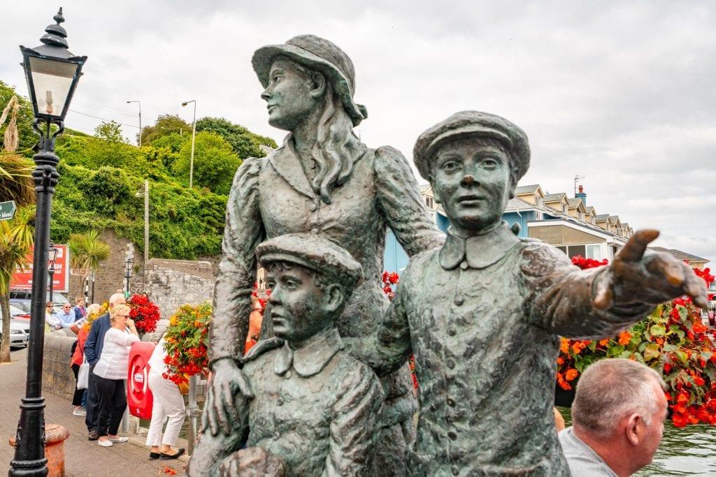 Annie Moore statue in Cobh Ireland