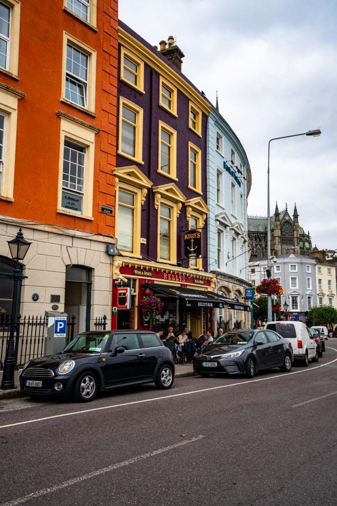 Colorful buildings in Cobh Ireland