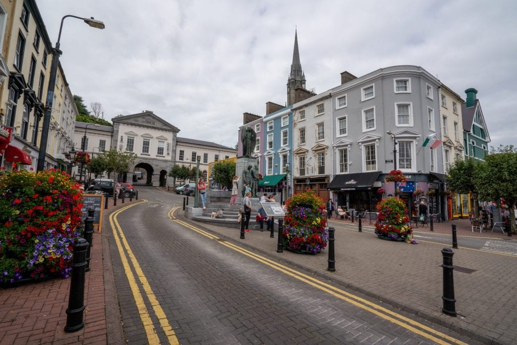 Road leading up a hill in Cobh Ireland