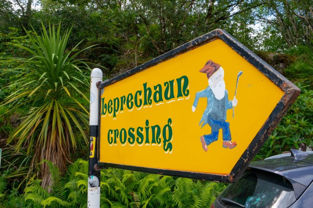 Leperchaun Crossing sign as seen in Ireland--keep an eye out for quirky details like this during your 10 days in Ireland