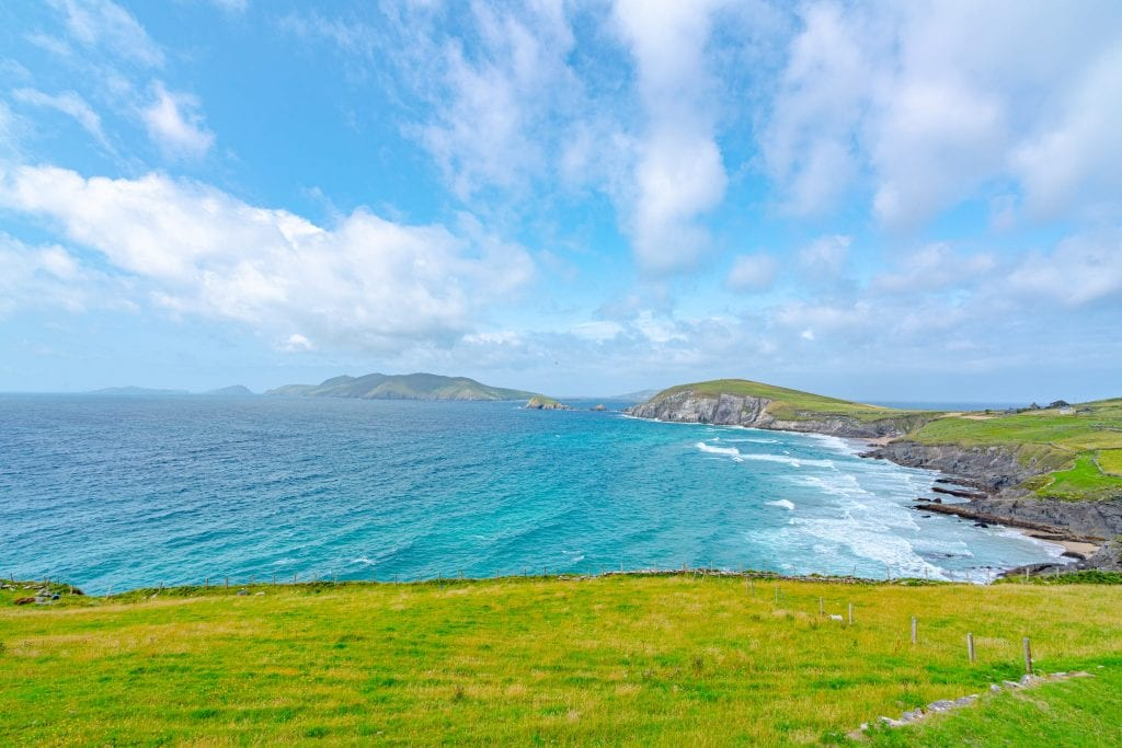 View of Blasket Islands off the coast of Slea Head Drive, Dingle Peninsula Ireland