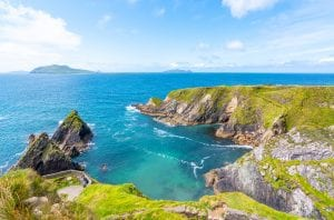Rocky coastline along Slea Head Drive, Dingle Peninsula drive Ireland