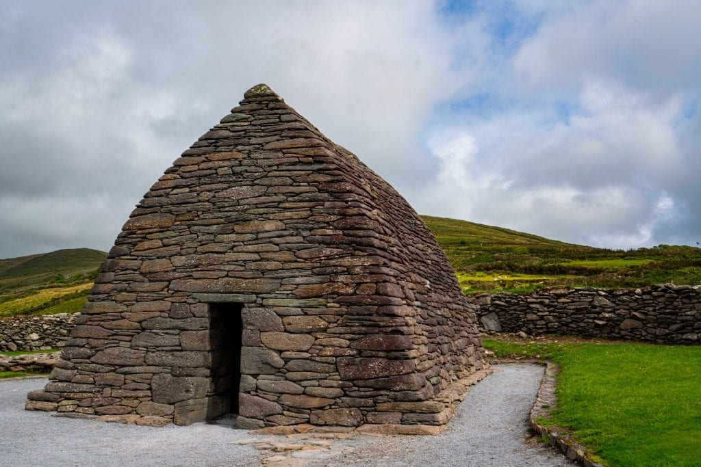 Gallarus Oratory as seen along Slea Head Drive Dingle Peninsula Ireland