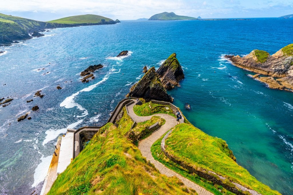 Dunquin Pier on a sunny day along Slea Head Drive Ireland