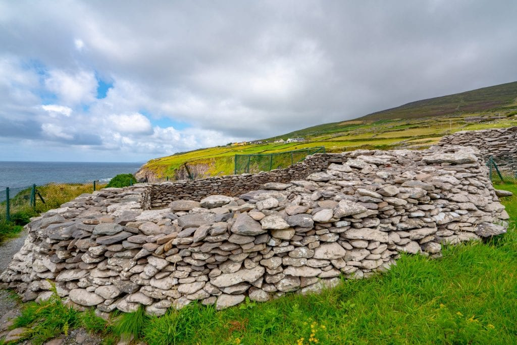 Ruins of Dunbeg Fort along Slea Head Drive, Dingle Peninsula drive Ireland