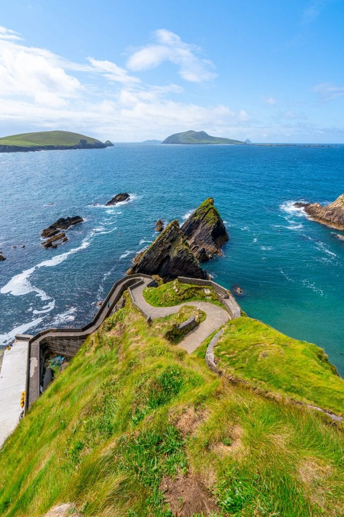Dunquin Pier in Slea Head Drive Dingle Peninsula, one of the prettiest hidden gems in Ireland