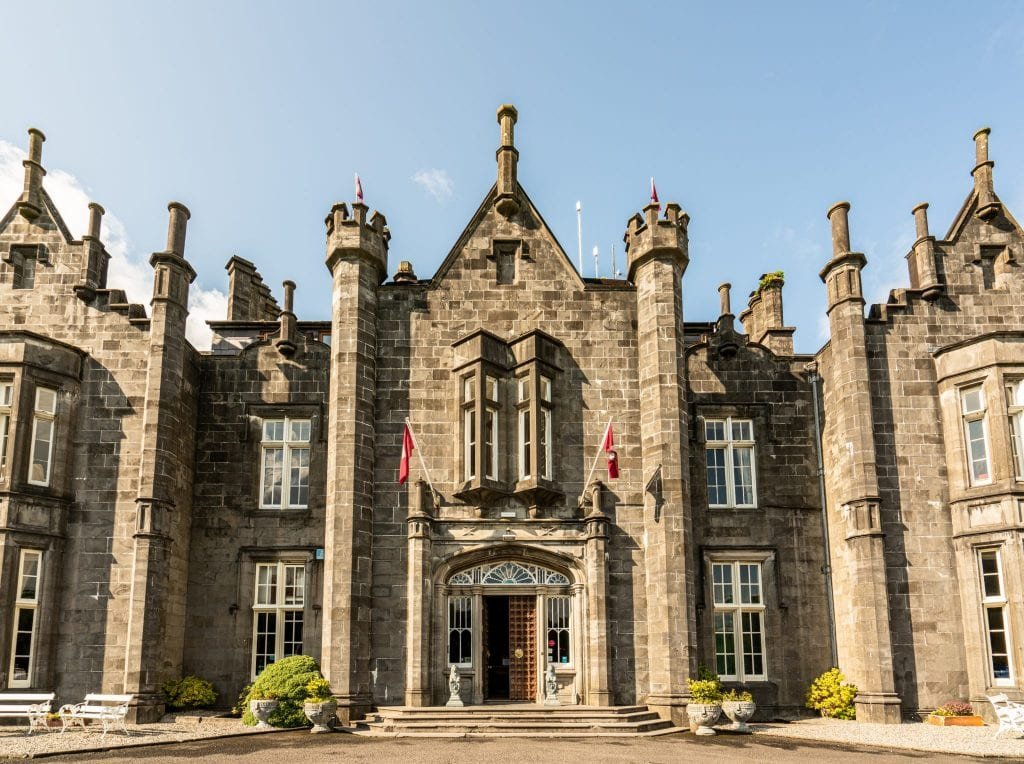 Exterior of Belleek Castle Ireland