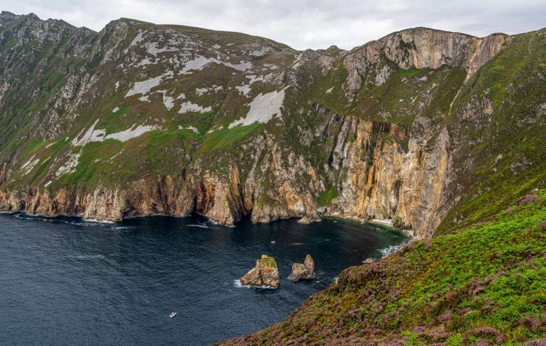 Slieve League Cliffs in Donegal Ireland, as seen during a fabulous Ireland road trip