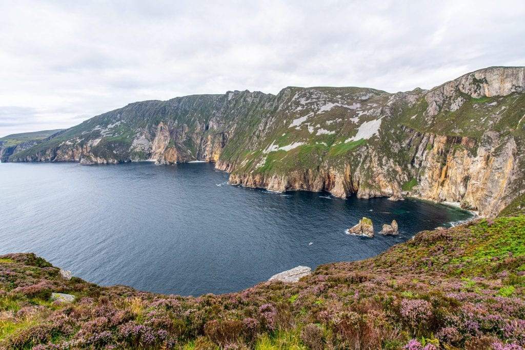 Slieve League Cliffs in Donegal Ireland--definitely consider a stop here when planning a trip to Ireland!