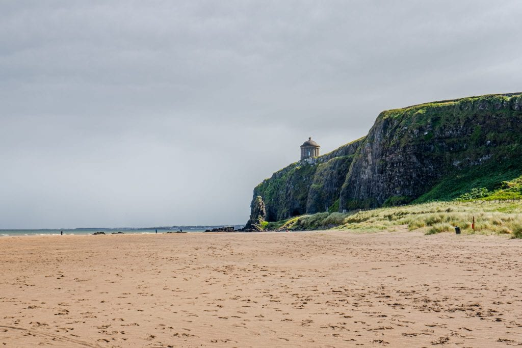 Downhil Beach with Mussenden Temple in the background, as seen during our most recent Irish road trip!