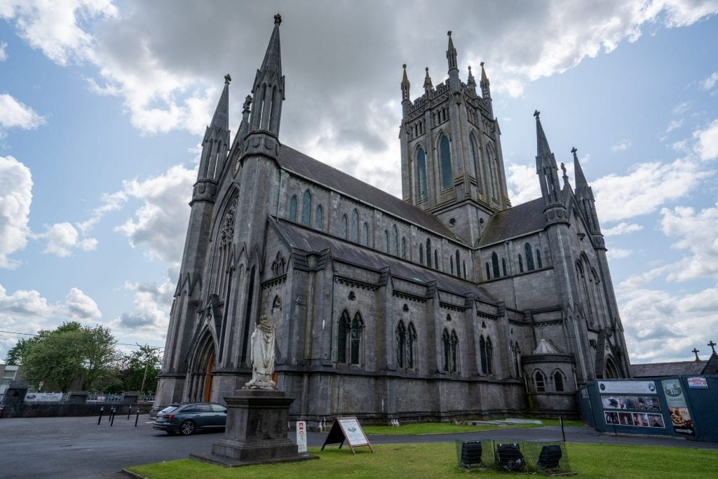 Cathedral in Kilkenny Ireland, an essential stop on your 10 day Ireland road trip itinerary!