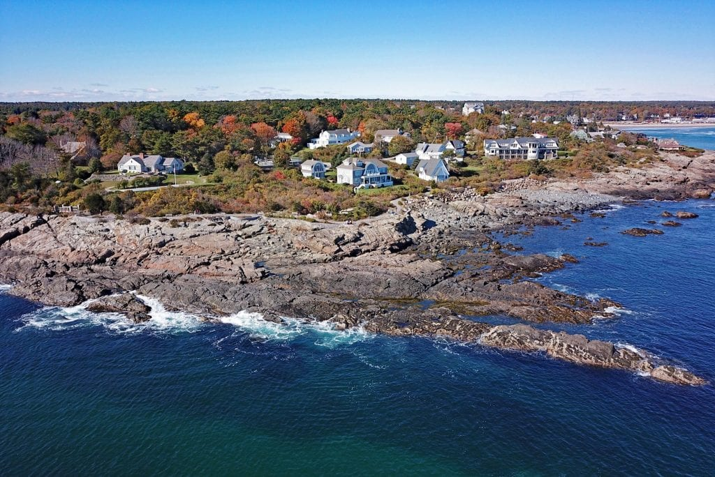 Ogunquit Maine as shot from above--easily among the most beautiful places to see in New England