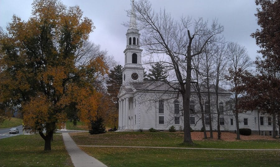 Williamstown, MA white church--an unforgettable place in New England