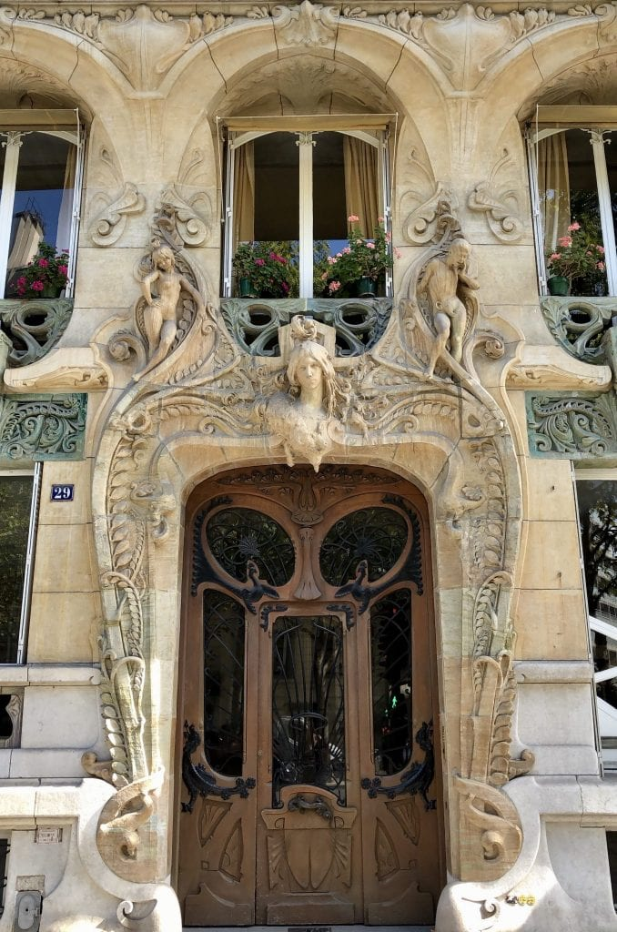 Front door of 29 Avenue Rapp Paris France
