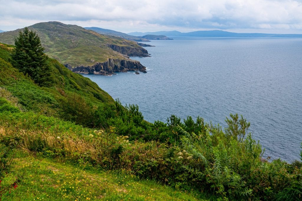 Irish coastline as seen along the Ring of Beara--the perfect Ireland road trip destination for those looking for something offbeat!