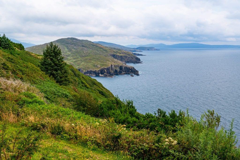 Coastline of the Ring of Beara, one of the best hidden gems in Ireland