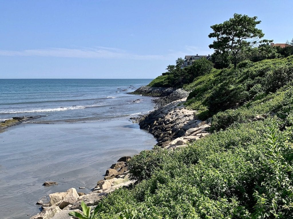 Rocky coastline in Newport Rhode Island, one of the best places to see in New England