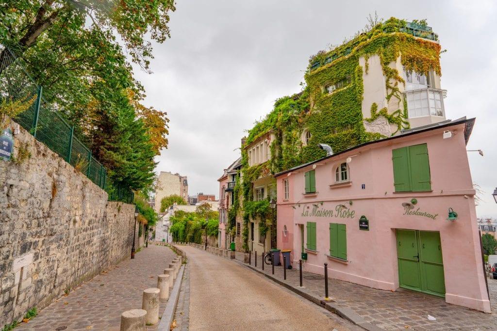 La Maison Rose in Montmartre, one of the best photo spots in Paris France