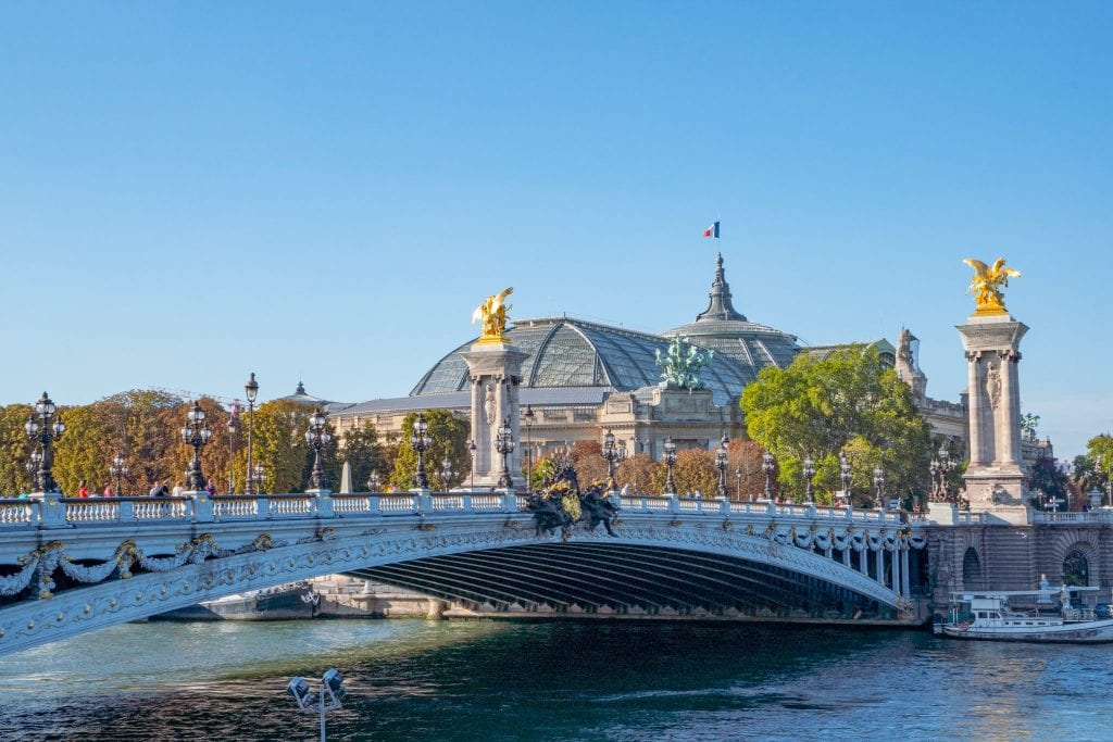 Pont Alexander III in Paris France