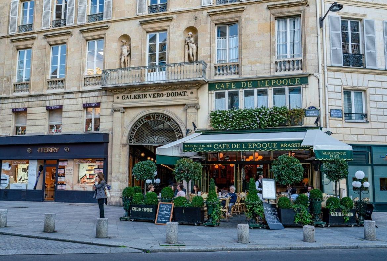 Exterior of Galerie Vero-Dodat passage, one of the beautiful hidden gems in Paris