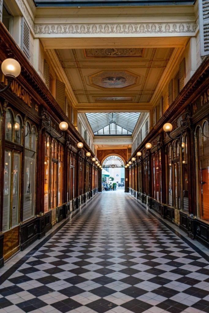 Galerie Vero-Dodat--come to secret passages like this when exploring Paris off the beaten path!