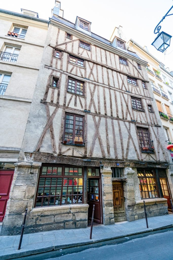 No. 3 Rue Volta, once thought to be the oldest house in Paris, is a fun secret Paris spot worth checking out in Le Marais.