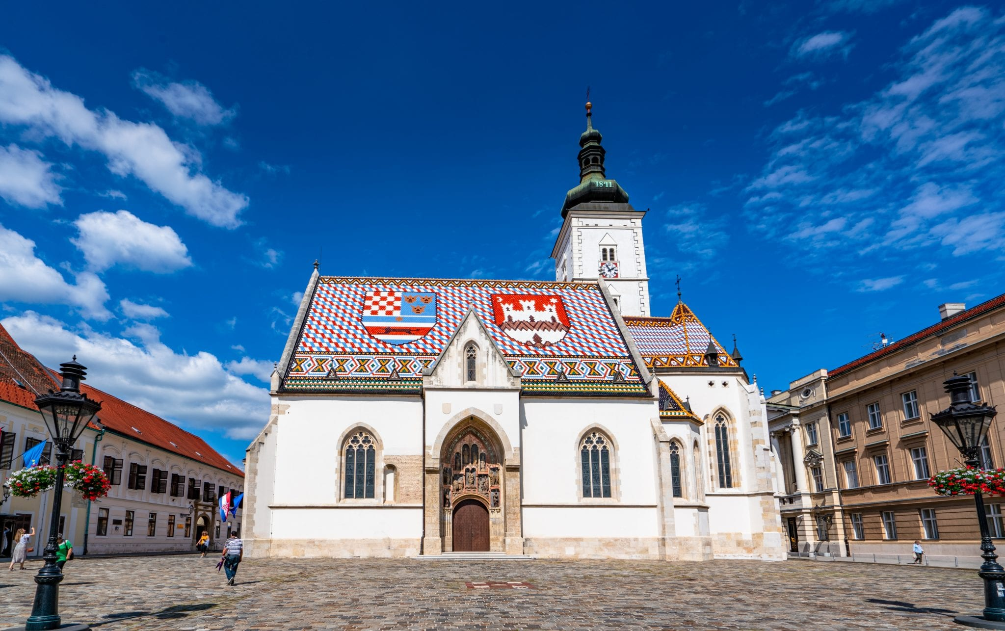 St.Mark's Church as seen from the side in Zagreb Croatia, a must-see when spending one day in Zagreb itinerary