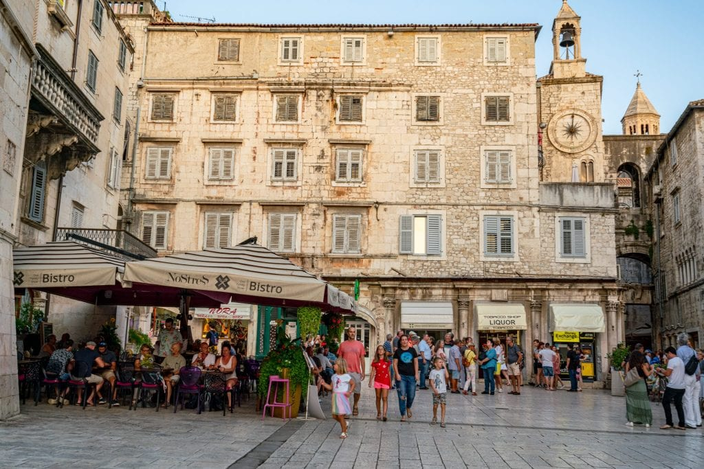 People's Square in Split Croatia, which is well worth visiting on a one day in Split itinerary