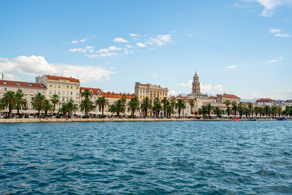 View of the Split Riva Promenade from across the water