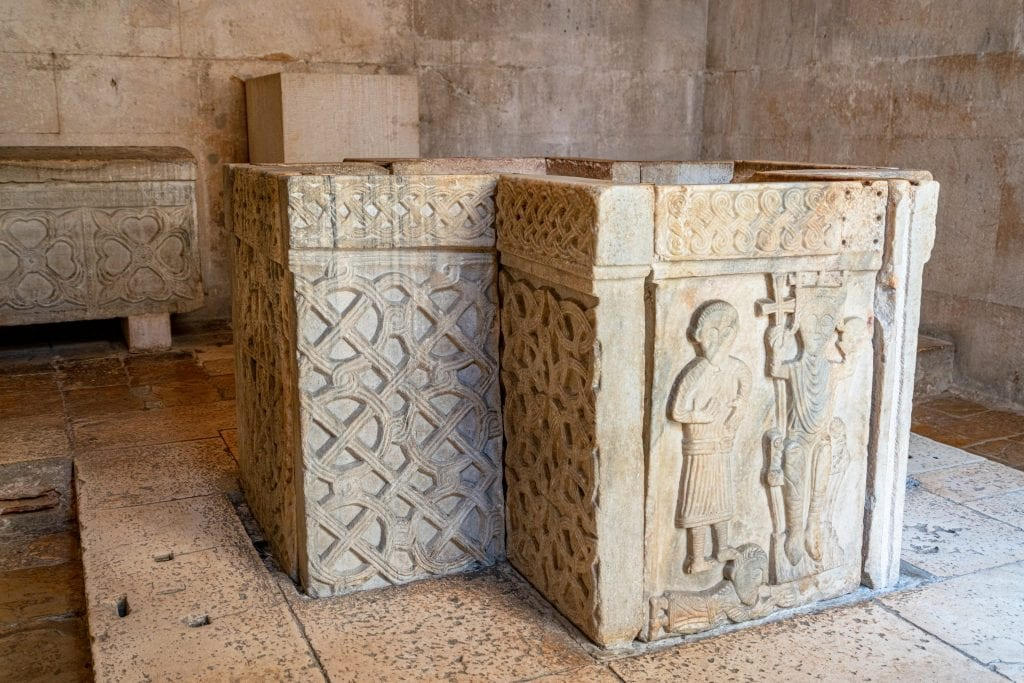 Interior of the Temple of Jupiter in Split Croatia