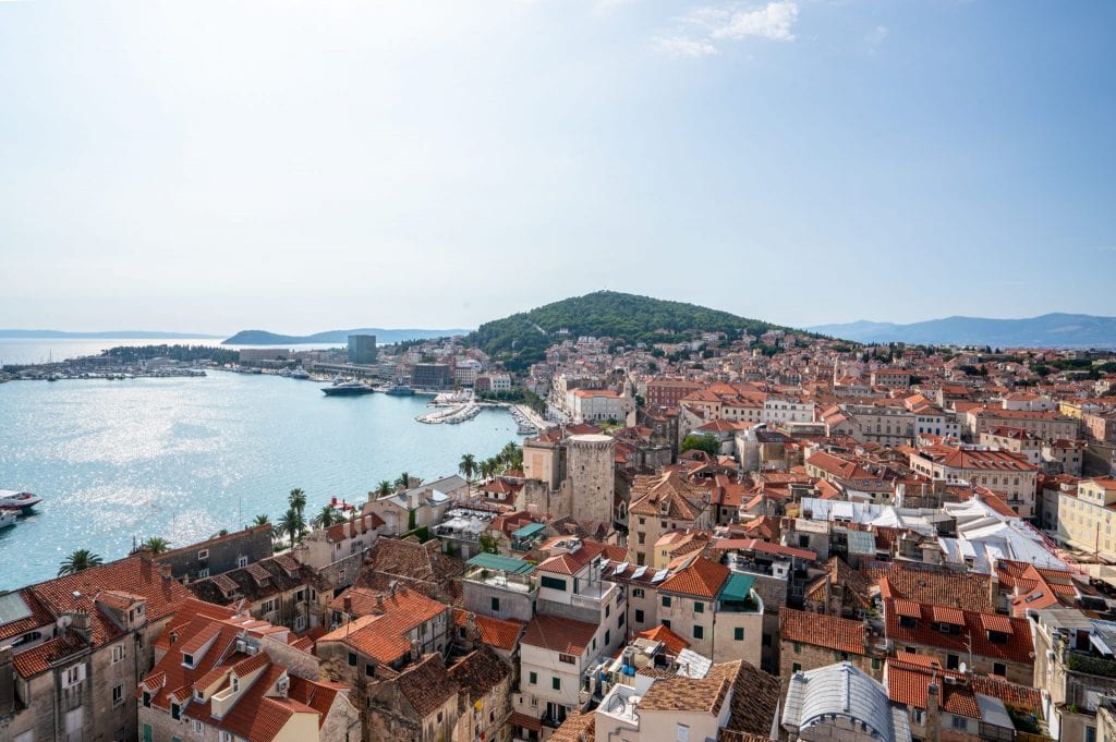 View of Split from St Dominus Bell Tower, as seen during a Split itinerary