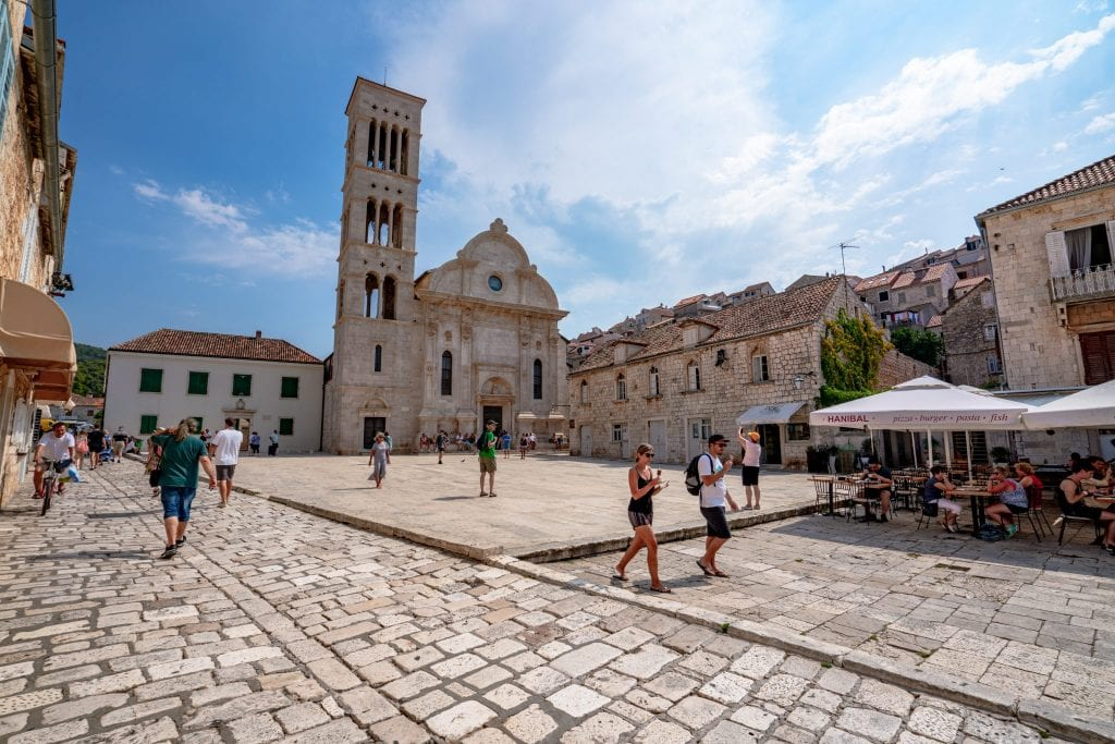St. Stephen's Cathedral and Square, one of the best things to do in Hvar Croatia