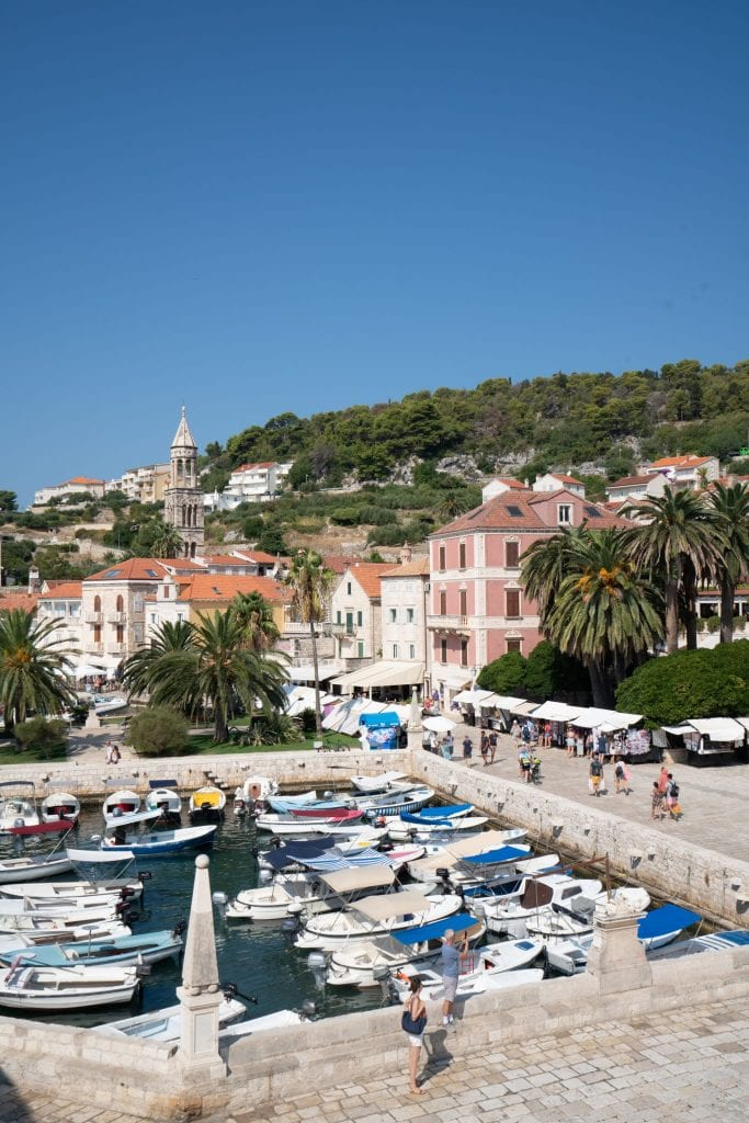 View from the terrace of the Hvar Theatre--definitely don't miss climbing up here what deciding what to do in Hvar!