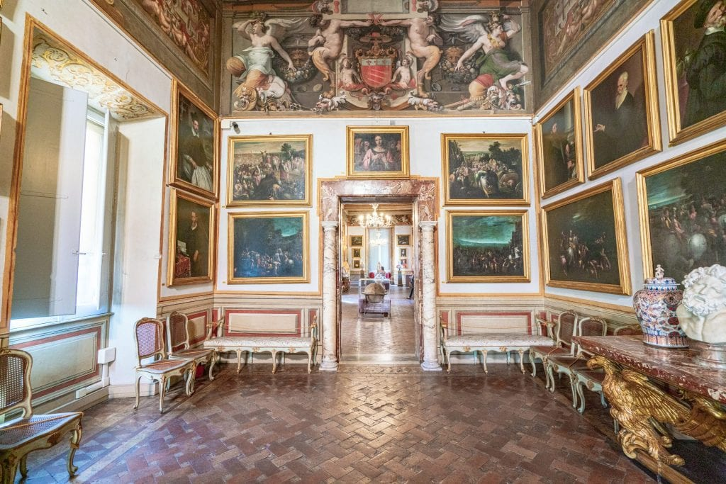 Art collection at Galleria Spada Rome, housed in Palazzo Spada, one of the best things to see in Rome Italy