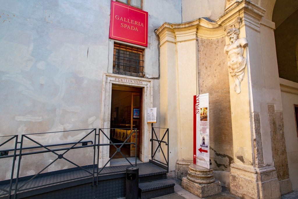 Entrance to Galleria Spada within Palazzo Spada Rome