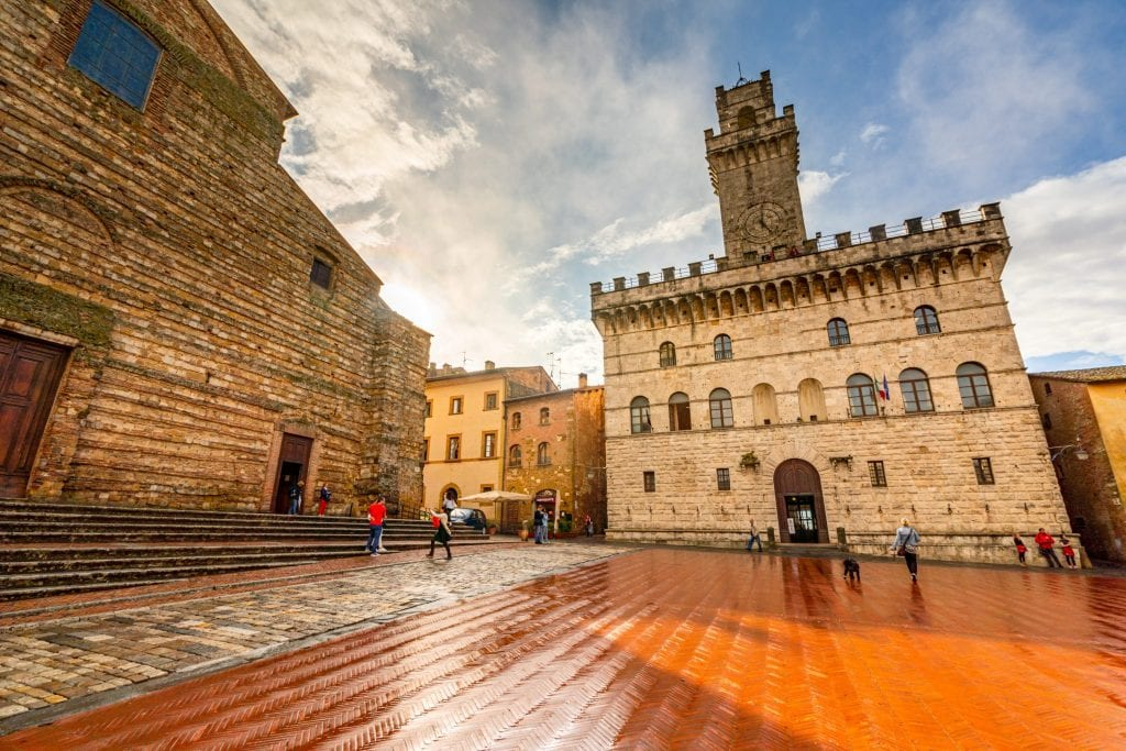 Main square of Montepulciano, one of the best Florence day trips