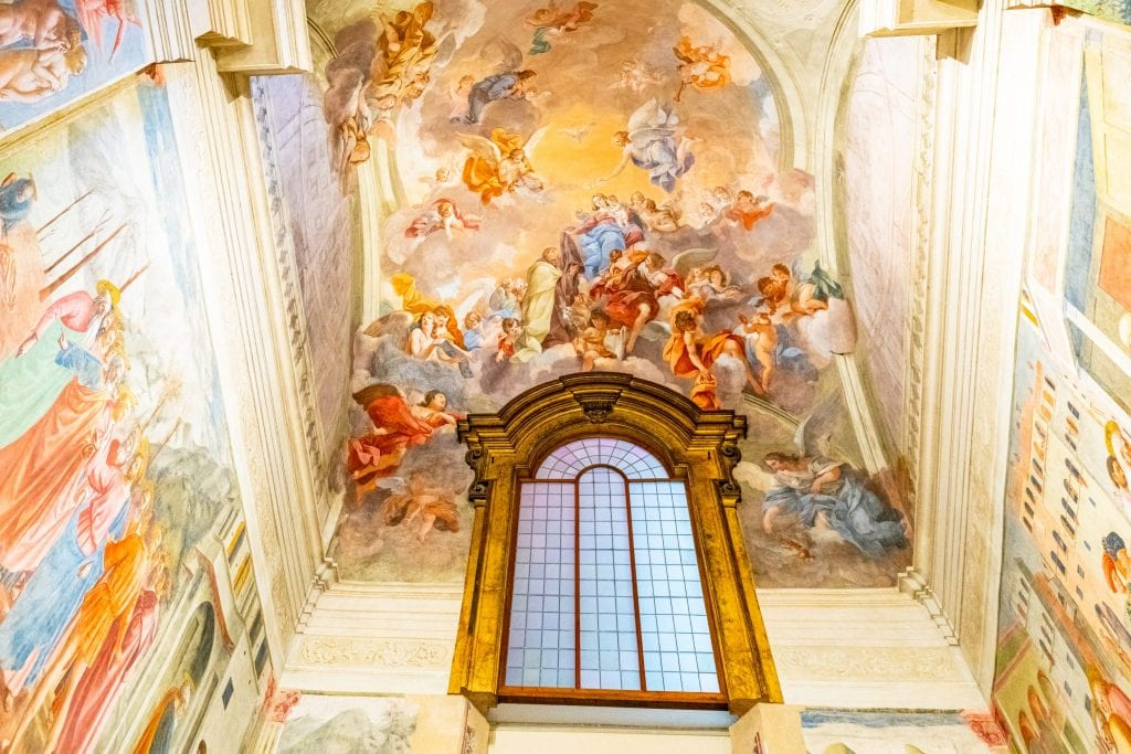Ceiling of the Brancacci Chapel in Florence, one of the best things to see in Florence off the beaten path