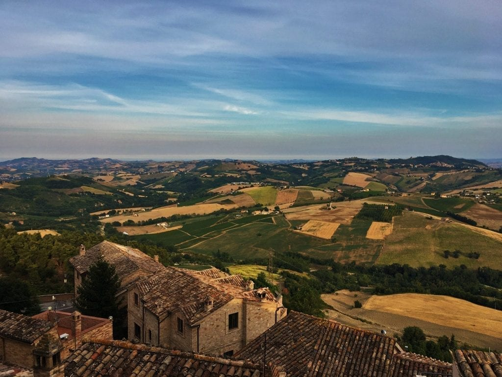 Rooftops of Montedinove in Le Marche Italy