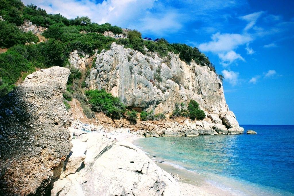 Beach in Cala Gonone Sardinia Italy