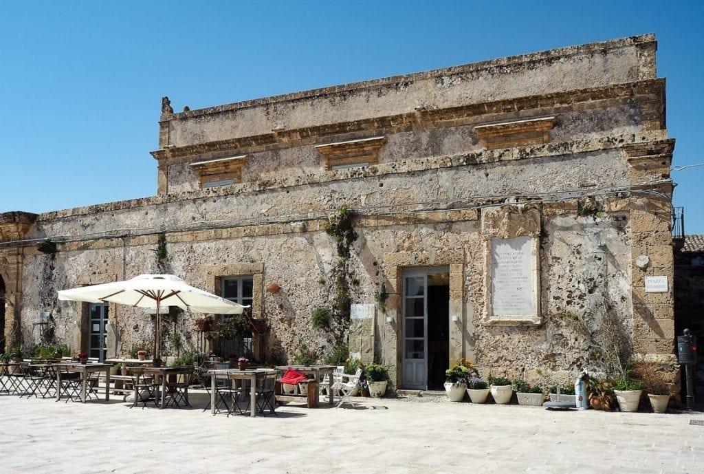 Stone building in Marzamemi Sicily