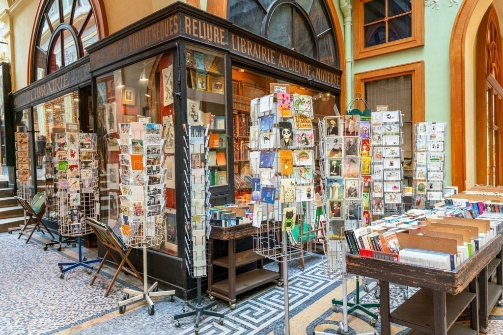 Librairie Jousseaume in Galerie Vivienne in Paris in December