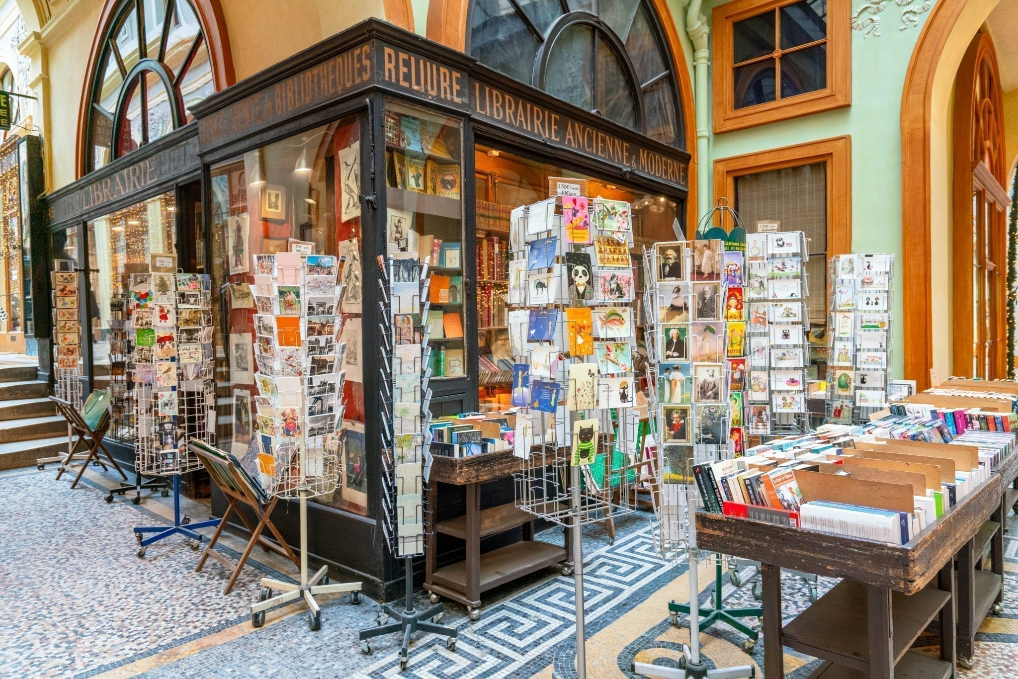 Librairie Jousseaume in Galerie Vivienne in Paris, one of the most beautiful bookstores in europe