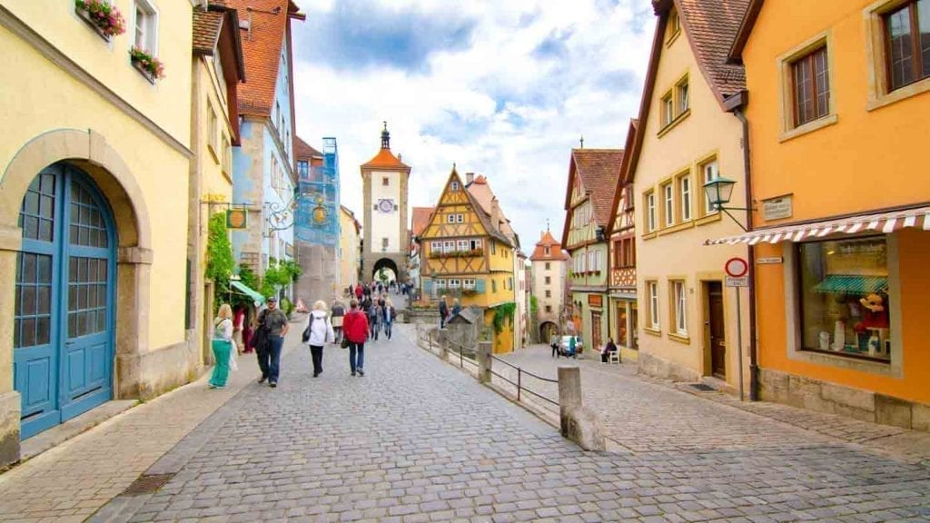 Rothenburg ob de Tauber on Germany's Romantic Road, one of the most popular road trips in Europe. Image from Getting Stamped.