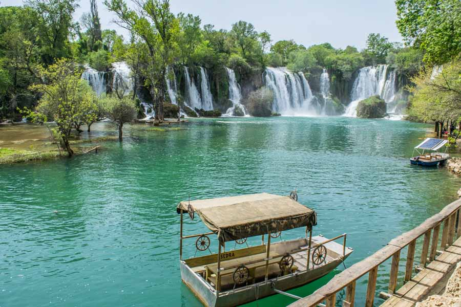 Kravice Waterfalls in Bosnia, as seen on a road trip Europe itinerary